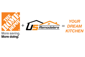 Remodel or Reface Your Kitchen Cabinets with US Remodelers and The Home Depot