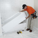 Bathroom Refacing Process - Bathtub Liner Installation
