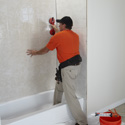 Bathroom Refacing Process - Wall Surround Installation