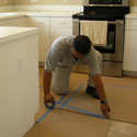 Kitchen Cabinet Refacing Process - Removing Old Doors