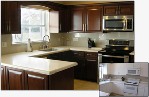 Kitchen Cabinet Refacing Process - Cleaning the Cabinets